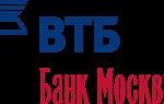 Банк Москвы кредитная карта