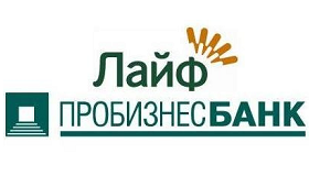 """Логотип кредита """"Лайф"""" от """"Пробизнесбанка"""""""